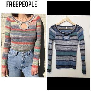 Free people size XS striped sweater
